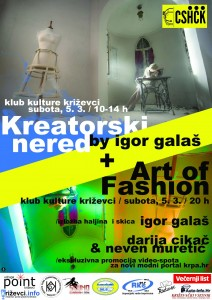 Klub kulture - CSf - Kreatorski nered i Art of Fashion - PLAKAT