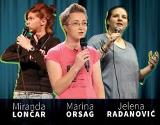 7. PREDSTAVA: FEMME FRONTAL – Jelena Radanović (SRB), Miranda Lončar (BIH), Marina Orsag (HRV)